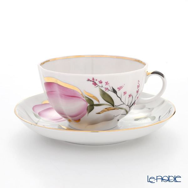 Imperial Porcelain Rose Tulips Tea cup with Saucer 250 cc