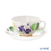 Imperial Porcelain / Lomonosov 'Violet Forest' Tea Cup & Saucer 250ml