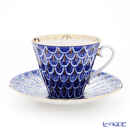 Imperial Porcelain Forget-me-not Radial Tea cup with saucer 235 ml