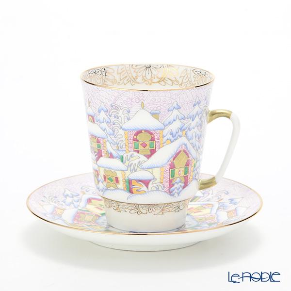 ロシア食器 インペリアル・ポーセリン ウインターデイ コーヒーカップ&ソーサー(メイ) 165cc