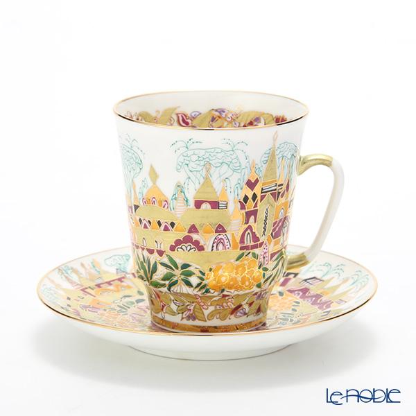 ロシア食器 インペリアル・ポーセリン ゴールデンスプリング コーヒーカップ&ソーサー(メイ) 165cc