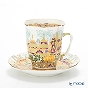 Russia kitchen Imperial porcelain Golden springs Coffee Cup & Saucer (Mei) 165 cc
