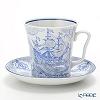 Russia kitchen Imperial porcelain Brigantine Mug & saucer set 360 cc