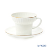 Imperial Porcelain / Lomonosov 'Golden Edge - Wave' Tea Cup & Saucer 370ml