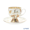 Imperial Porcelain / Lomonosov 'Golden Twig' Cup & Saucer 160ml