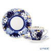Imperial Porcelain / Lomonosov 'Russian Domes - Radial' Tea Cup & Saucer, Plate (set of 2 for 1 person)