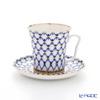 Imperial Porcelain Cobalt Net Leningrad Mug with Saucer 360 ml