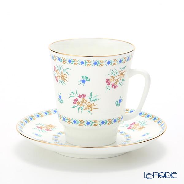 ロシア食器 インペリアル・ポーセリン ベルフラワーブーケ ティーカップ&ソーサー(メイ) 235cc