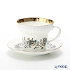 Russia kitchen Imperial porcelain nobembertwig Tea Cup & Saucer 155 cc