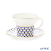 Imperial Porcelain / Lomonosov 'Cobalt Net - Wave' Tea Cup & Saucer 155ml