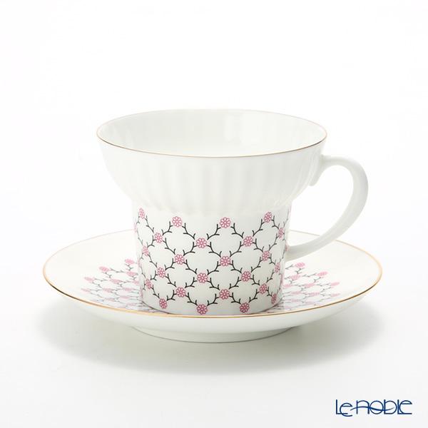 Le Noble Russia Kitchen Imperial Porcelain Rose Net Tea Cup