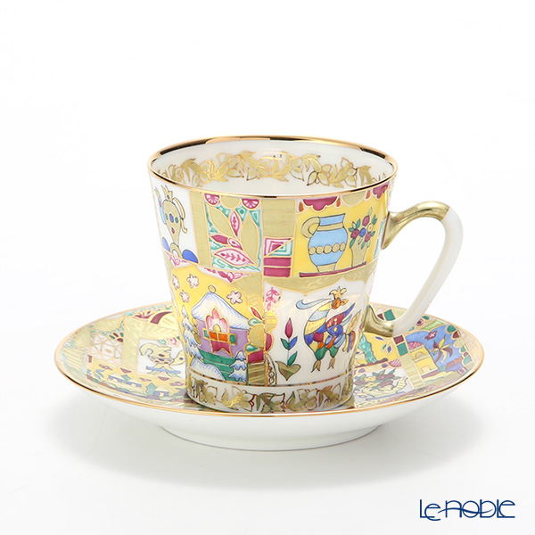 Imperial Porcelain / Lomonosov 'Fairy Tale' Demitasse Coffee Cup & Saucer 80ml