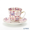 Imperial Porcelain / Lomonosov 'Rose' Demitasse Coffee Cup & Saucer 80ml