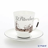 St. Petersburg, Imperial porcelain tableware Russia Cup & Saucer number5 mikhaylovsky Castle