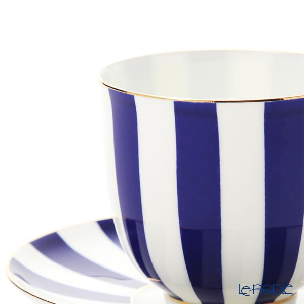 Imperial Porcelain / Lomonosov 'Stripe' Cobalt Blue Cup & Saucer 180ml