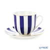 Imperial Porcelain / Lomonosov 'Stripe' Cobalt Blue Cup & Saucer 180ml