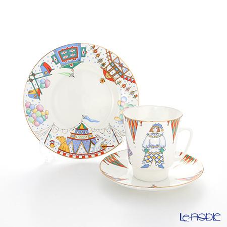 ロシア食器 インペリアル・ポーセリン バレエコレクション 3ピースセット ペトルーシュカ