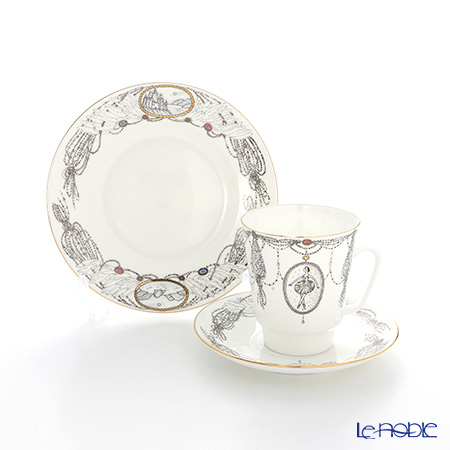Imperial Porcelain / Lomonosov 'Ballet - Swan Lake - May' Tea Cup & Saucer, Plate (set of 2 for 1 person)