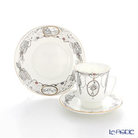 ロシア食器 インペリアル・ポーセリン バレエコレクション 3ピースセット 白鳥の湖