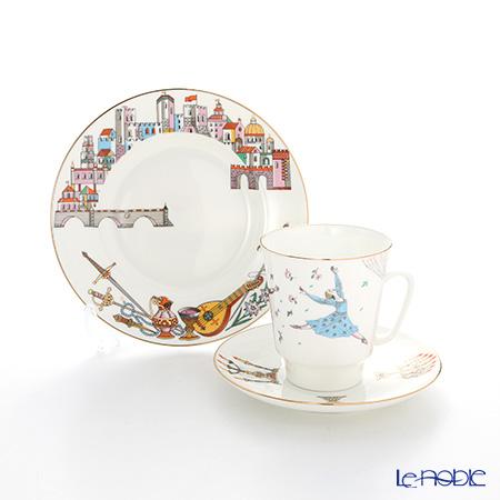 ロシア食器 インペリアル・ポーセリン バレエコレクション 3ピースセット ロミオとジュリエット