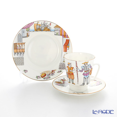 Imperial Porcelain / Lomonosov 'Ballet - Don Quixote - May' Tea Cup & Saucer, Plate (set of 2 for 1 person)