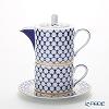 Russia kitchen Imperial porcelain cobalt NET TIR for one