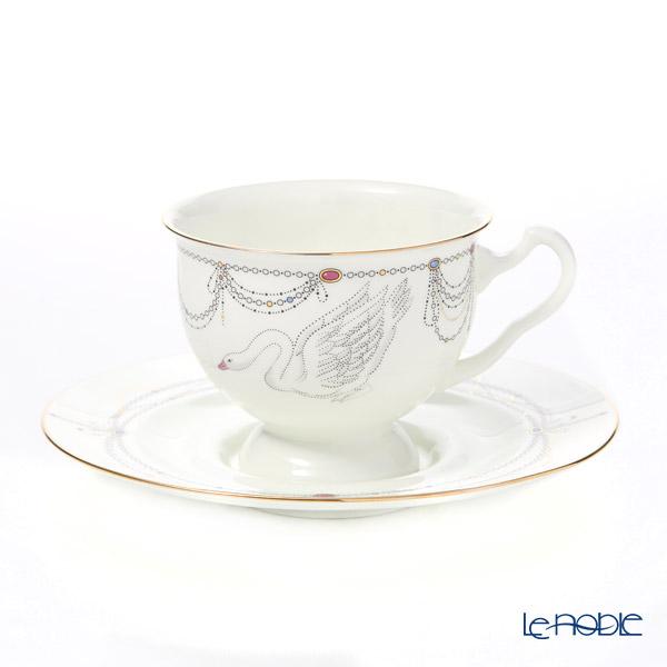 ロシア食器 インペリアル・ポーセリン バレエコレクション ティー カップ&ソーサー 白鳥の湖