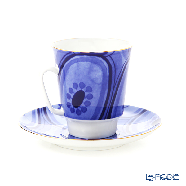 Imperial Porcelain / Lomonosov 'Mood Ethno - May' Tea Cup & Saucer 165ml