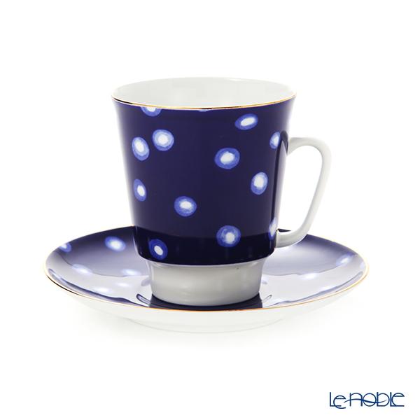 ロシア食器 インペリアル・ポーセリン ムードティーカップ&ソーサー パルス(メイ) 165cc