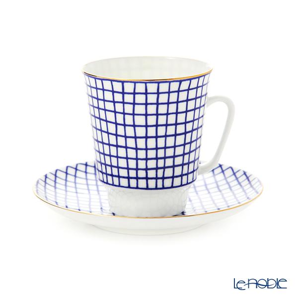 ロシア食器 インペリアル・ポーセリン ムードティーカップ&ソーサー ツウィード(メイ) 165cc