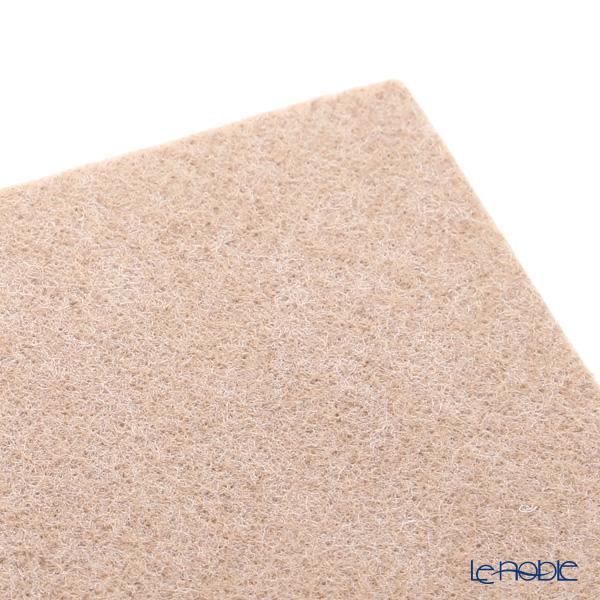 Daff 'Beige' Square Felt Mat 18cm
