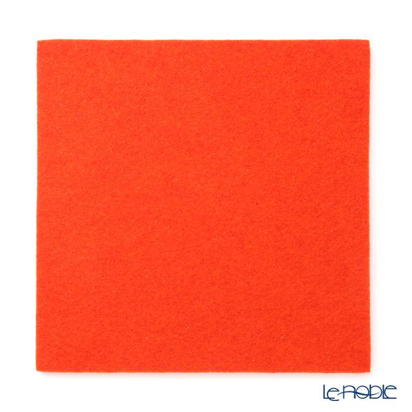 Daff 'Orange' Square Felt Mat 18cm
