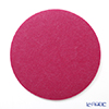 DAFF round mat 18 cm wine red