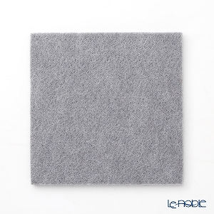 DAFF square coaster 10 cm light grey