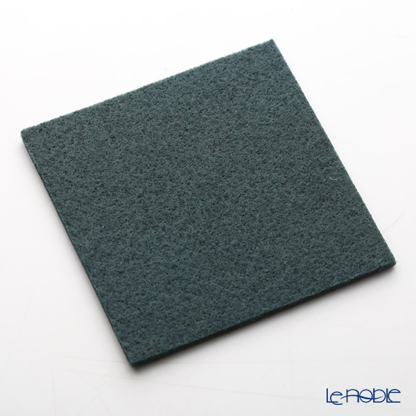 Daff 'Dark Green' Square Felt Coaster 10cm