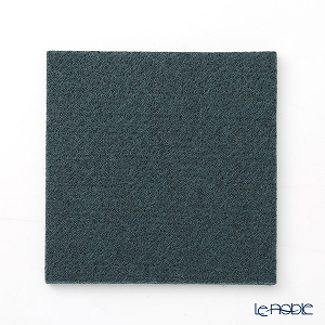 DAFF square coaster 10 cm dark green