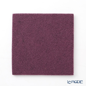 DAFF square coaster Purple 10 cm