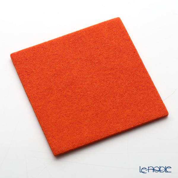 Daff 'Orange' Square Felt Coaster 10cm