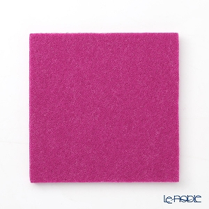 DAFF square coaster 10 cm wine red