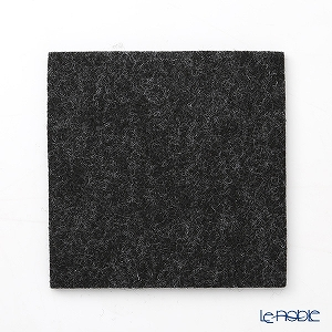 DAFF square coaster 10 cm dark grey