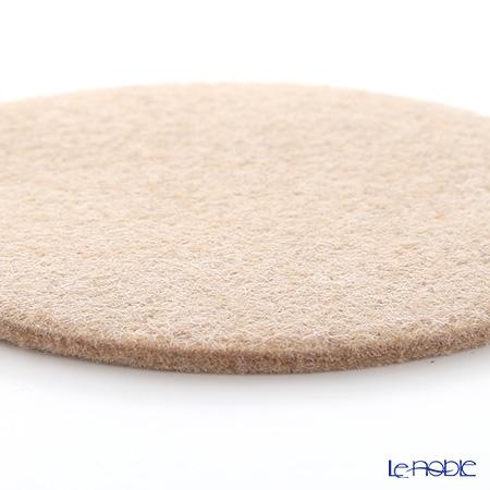 Daff 'Beige' Round Felt Coaster 10cm