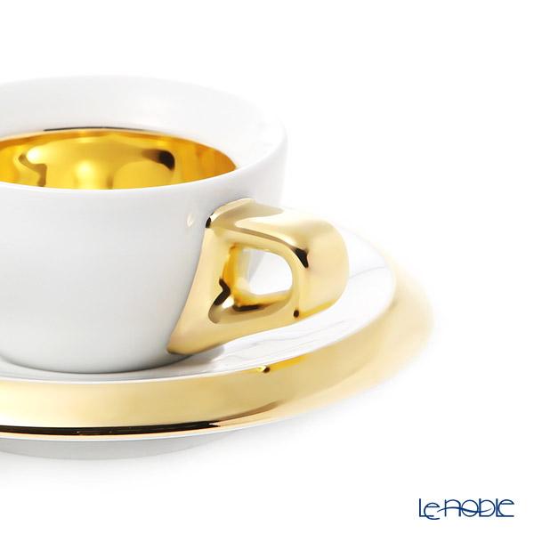 Walkure 'Rossi' inside Gold Espresso Coffee Cup & Saucer 60ml