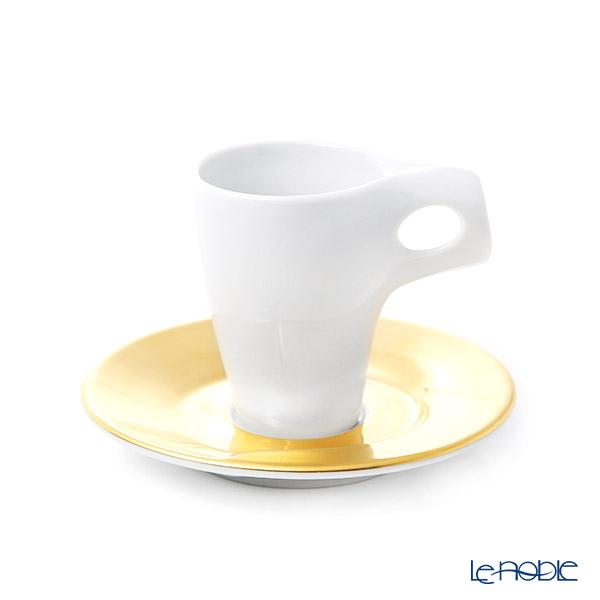 Walkure 'Vento' Matt Gold Espresso Coffee Cup & Saucer 140ml