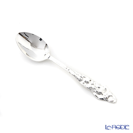 Hayakawa Silver 'Server' 07-60 [Clear Light Silver] Tea Spoon 14.5cm (L / set of 5 with Storage Cloth)