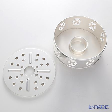 Hayakawa Silver 'Server' C20-50 [Clear Light Silver] Pot Warmer for Tea Light Candle 13.5cm (Cloud)