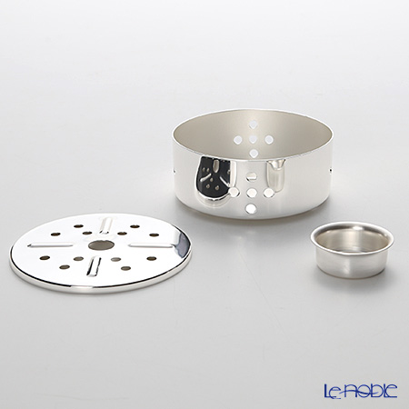 Hayakawa Silver 'Server' C20-51 [Clear Light Silver] Pot Warmer for Tea Light Candle 11cm (Round Hole)