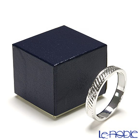 Hayakawa Silver 'Server' 27-11 [Clear Light Silver] Napkin Ring 4.5cm