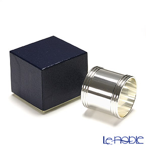 Hayakawa Silver 'Server' 27-15 [Clear Light Silver] Wide Napkin Ring 4.5cm