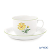 アウガルテン(AUGARTEN) ウィンナーフラワー (5089J) デイジー イエローコーヒーカップ&ソーサー 200ml(001シューベルトシェイプ)