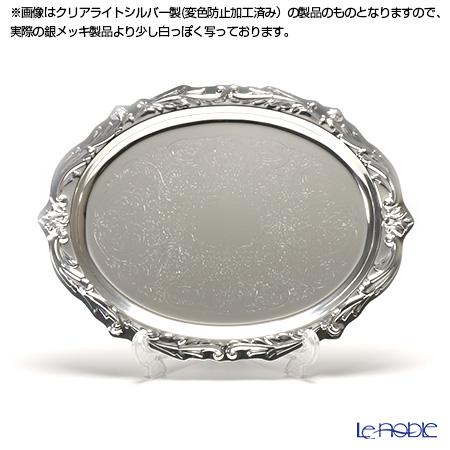 【銀メッキ製品】早川シルバー ローズオーバルトレイ 05-30
